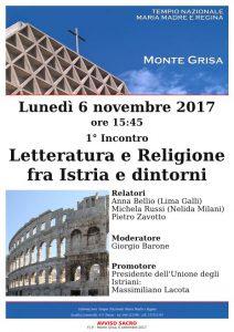 1° incontro 'Letteratura e Religione fra Istria e dintorni'