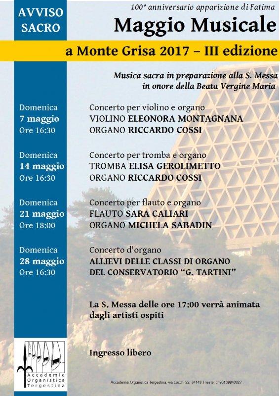 Locandina del Maggio Musicale a Monte Grisa