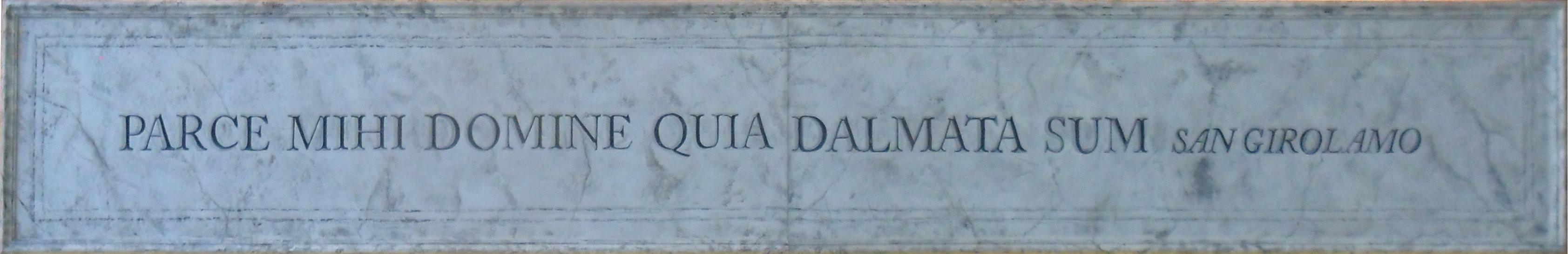 San Girolamo: perdonami, Signore PERCHÉ sono Dalmata!