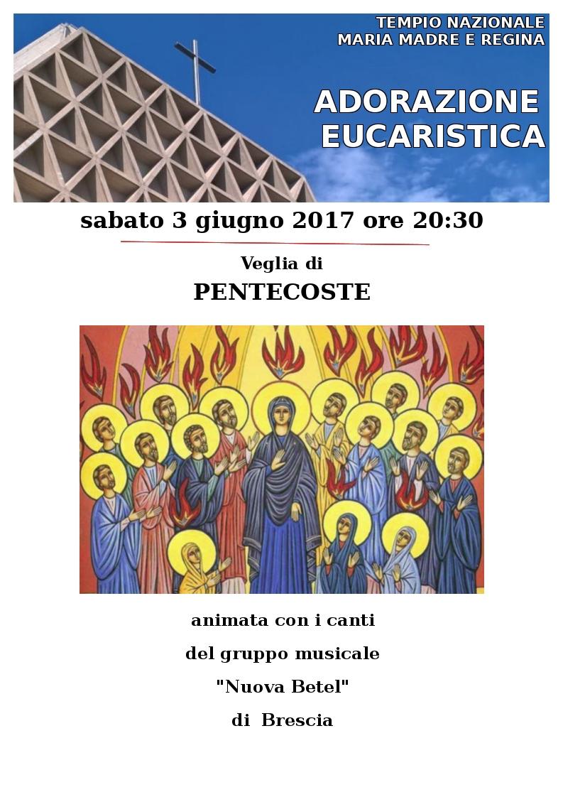 Locandina Adorazione Eucaristica di Pentecoste