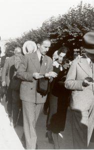 Marcello Labor, con la figlia, a Lourdes