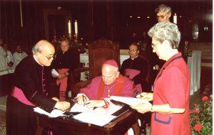 Mons. Eugenio Ravignani alla chiusura dell'indagine diocesana