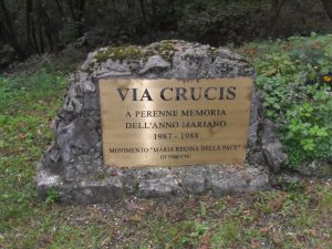 Via Crucis esterna - prima targa